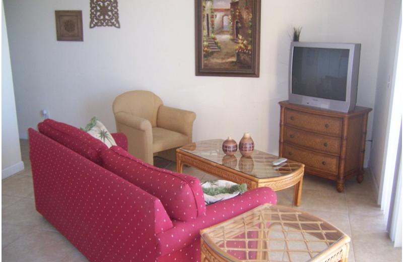 Unit living room at Boca Ciega Resort.