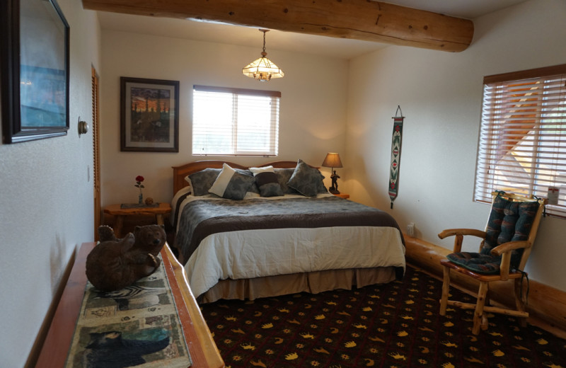 Guest room at Salmon Catcher Lodge.
