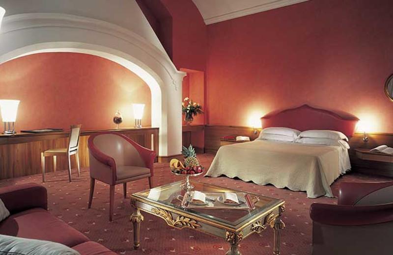 Guest room at Certosa di San Giacomo.