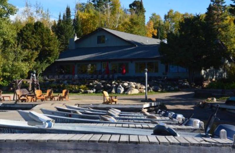 Marina at Gunflint Lodge.