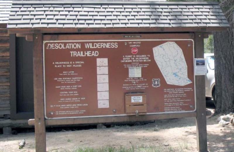 Hiking trails at Meeks Bay Resort & Marina.