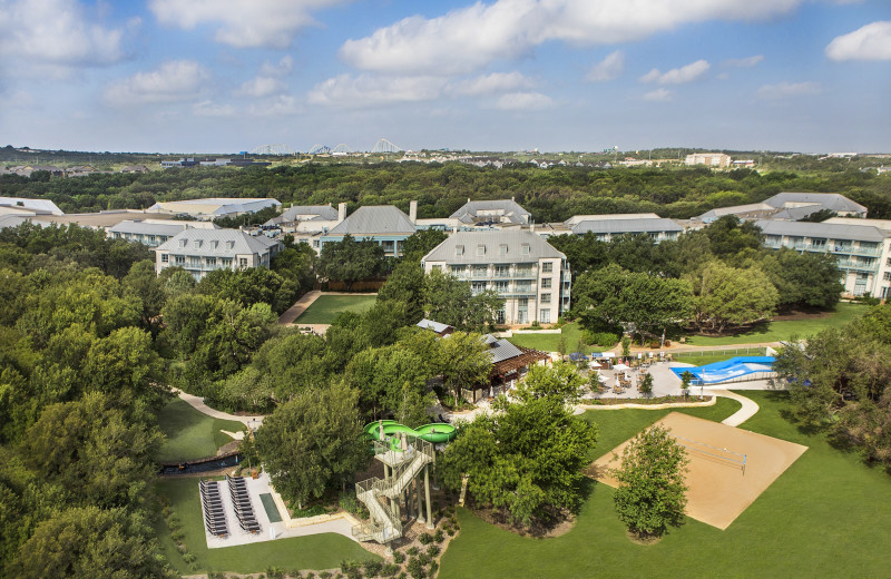 Aerial view of Hyatt Regency Hill Country Resort and Spa.