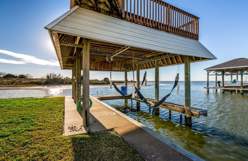 Rental dock at Gary Greene Vacation Rentals.