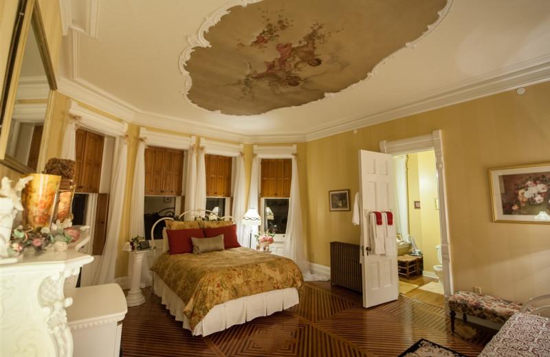 Guest room at Reynolds Mansion.
