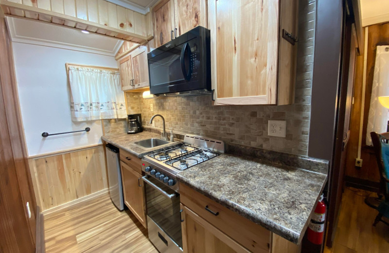 Guest kitchen at Evergreen Lodge.