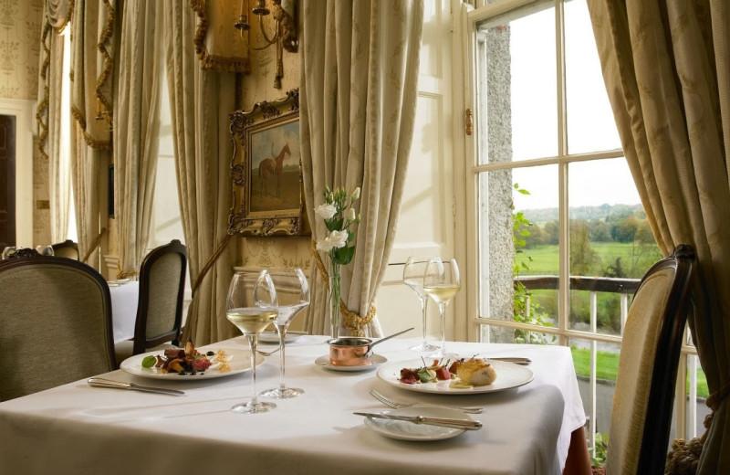 Dining at Mount Juliet Estate.