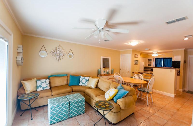 Rental living room at All Seasons Accommodations, Inc.