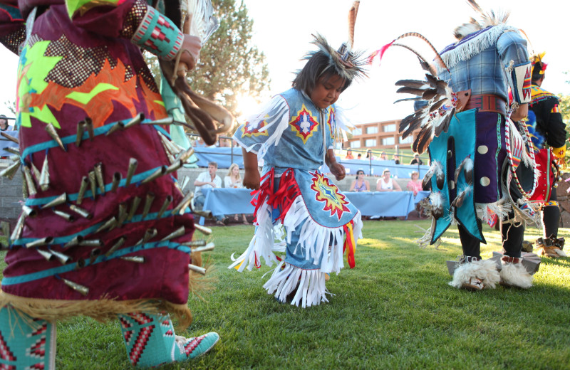 Indian cultural dance at Kah-Nee-Ta Resort and Spa.