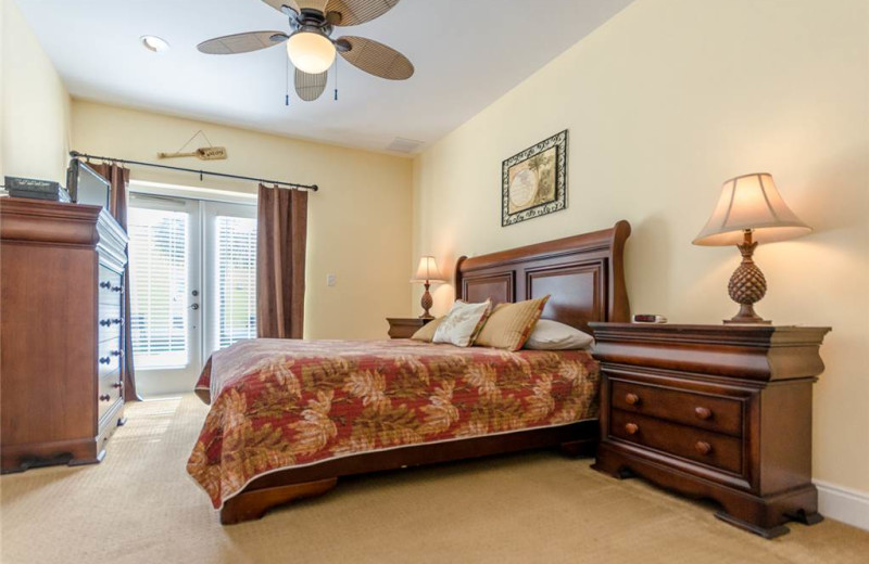 Rental bedroom at Banana Bay Perdido Key.