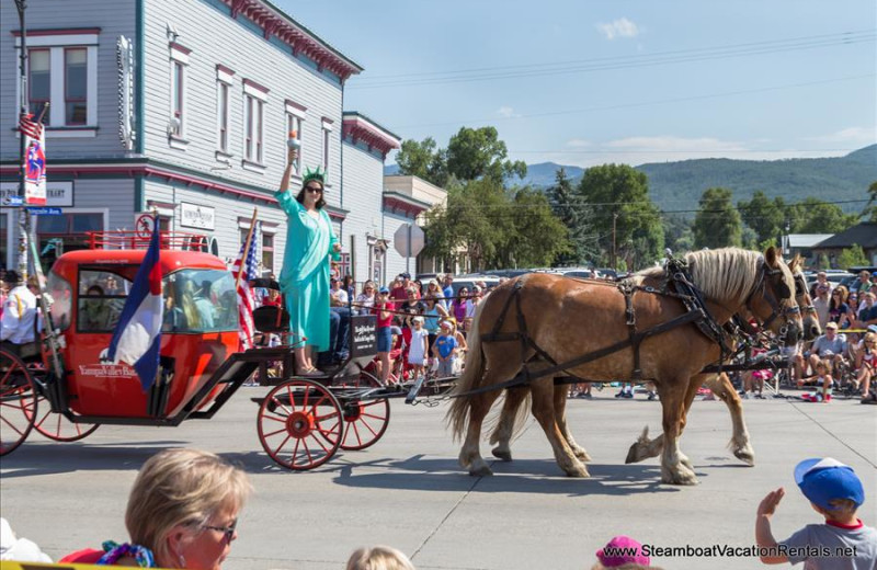 Carriage ride at Steamboat Vacation Rentals.