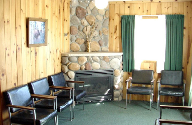 Cabin living room at Pipestone Point Resort.