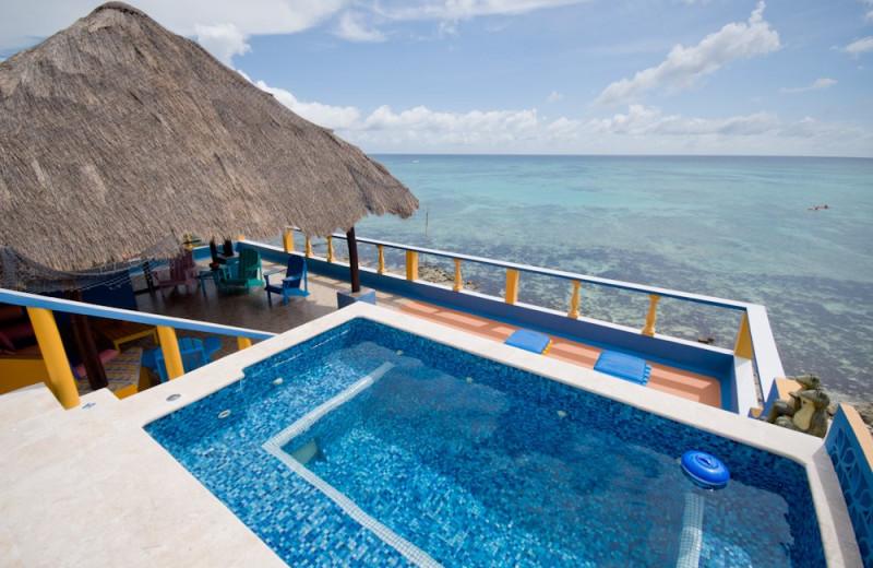 Outdoor pool at Casa Caribena.