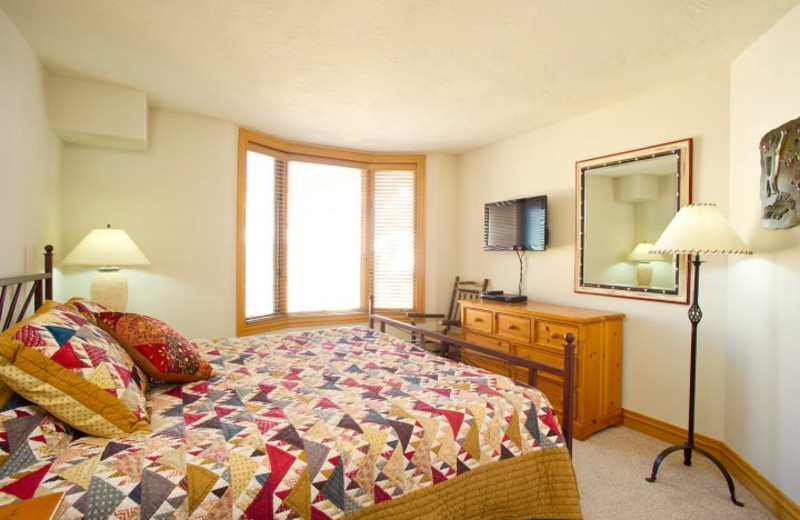 Guest room at Beaver Creek Lodge.