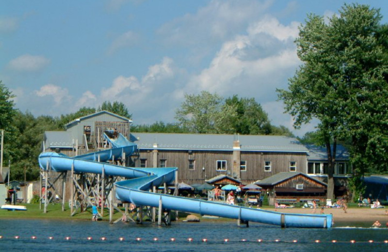 Water slide at Lloyd's Cottages.