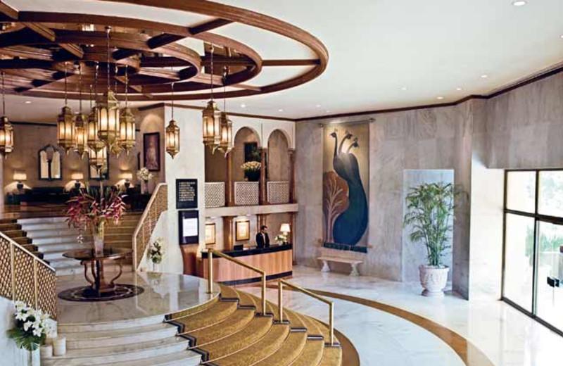 Lobby at Taj Palace Hotel.