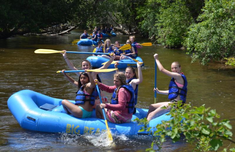 River rafting at Big Bear Adventures.
