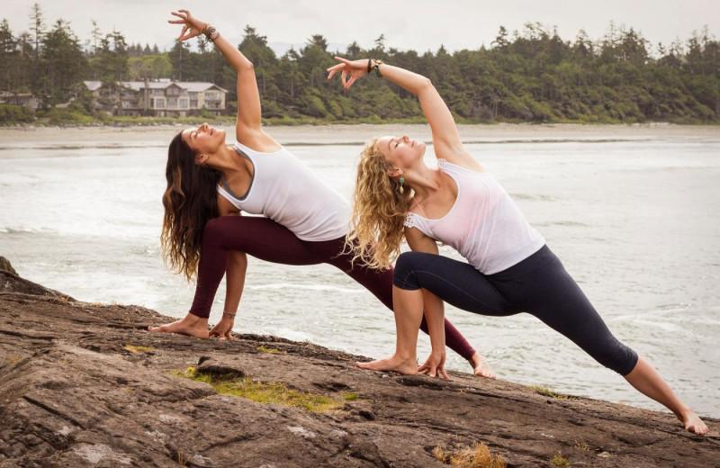 Yoga at Long Beach Lodge Resort.