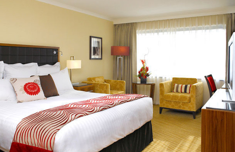 Guest room at Waltham Abbey Marriott Hotel.