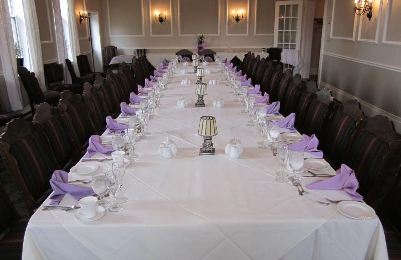 Dinner party at Elm Hurst Inn & Spa.