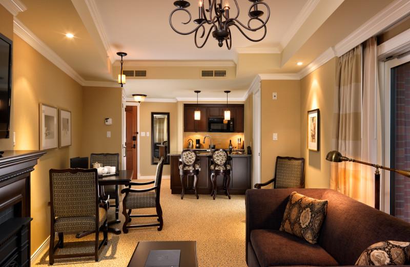 Interior view of Oak Bay Beach Hotel.