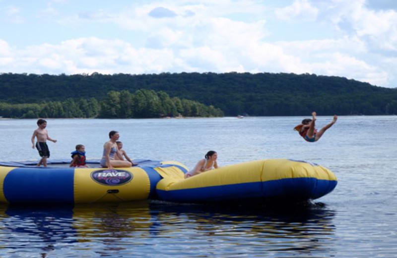 Water fun at Blue Spruce Resort.