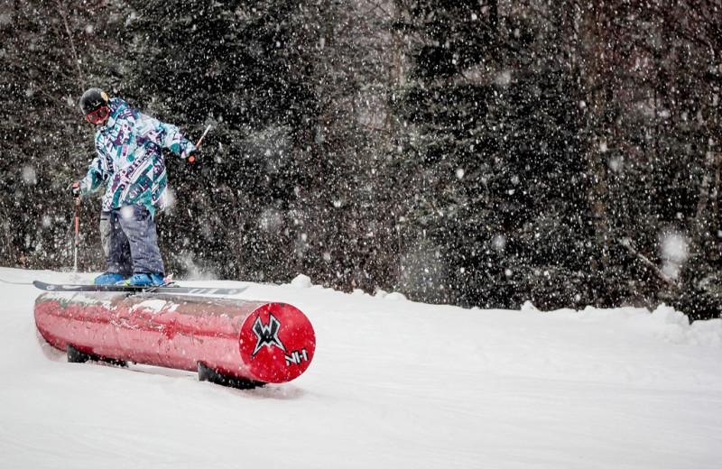 Snowboarding at Black Bear Lodge.