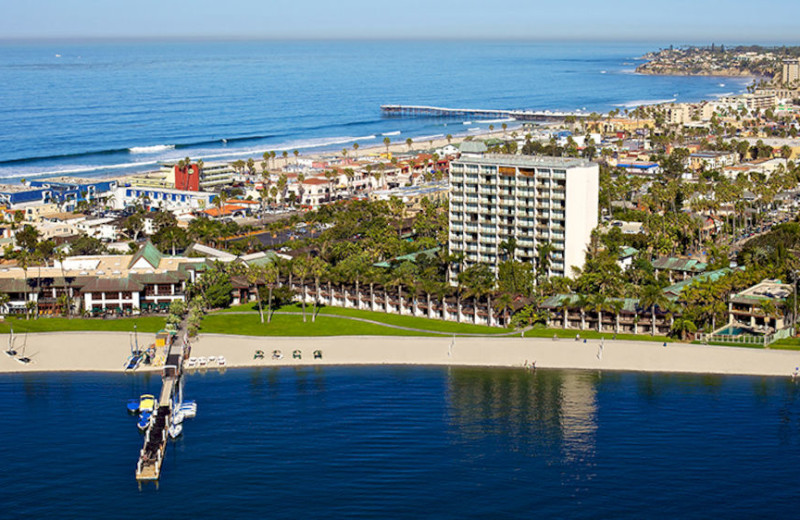 Resort aerial at Evans Hotels.