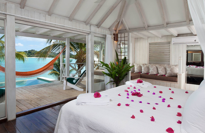 Guest room at Cocobay Resort.