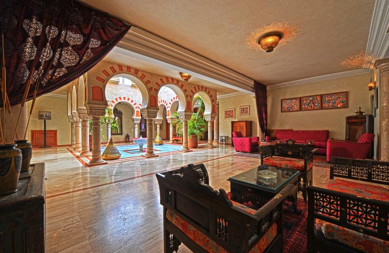 Patio lounge at Palais Mehdi.