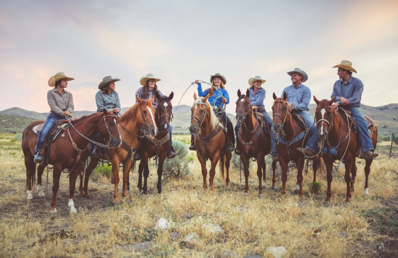 Horseback riding at Big Bar Guest Ranch.