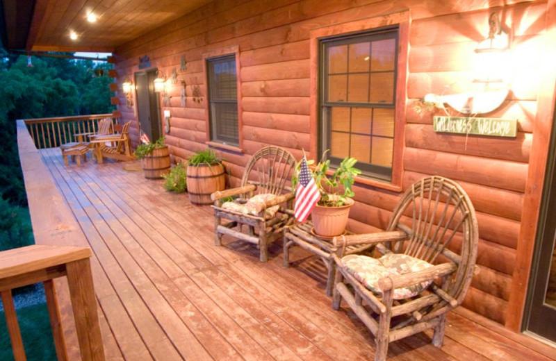 Deck view at Harpole's Heartland Lodge.