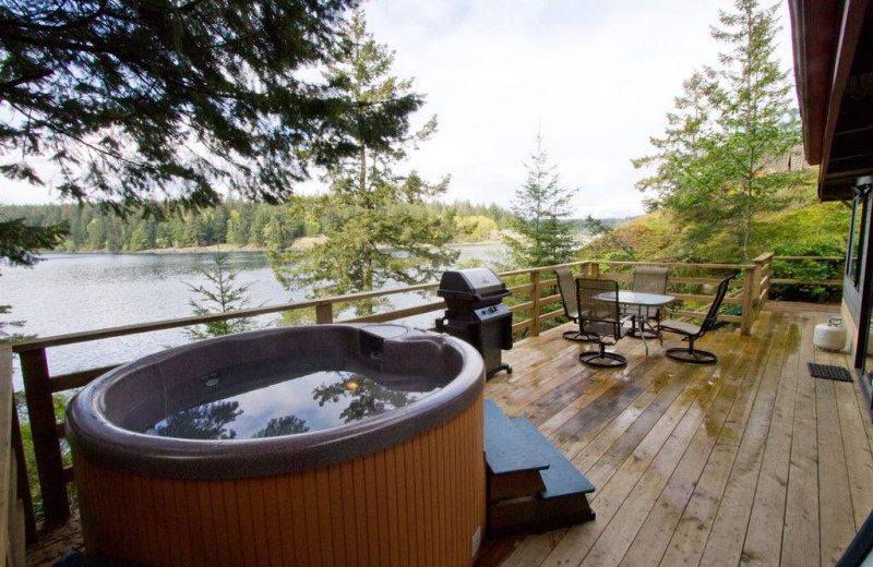Guest hot tub at April Point Lodge and Fishing Resort.