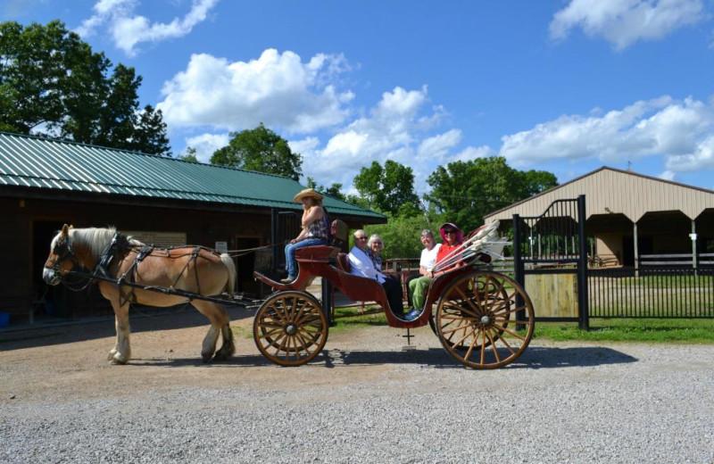 Wagon ride at YMCA Trout Lodge & Camp Lakewood.