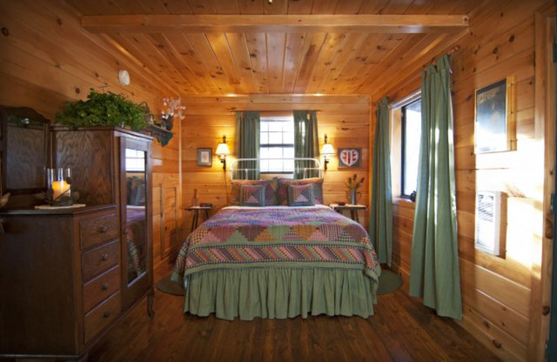 Cabin Bedroom at Mountain Springs Cabins