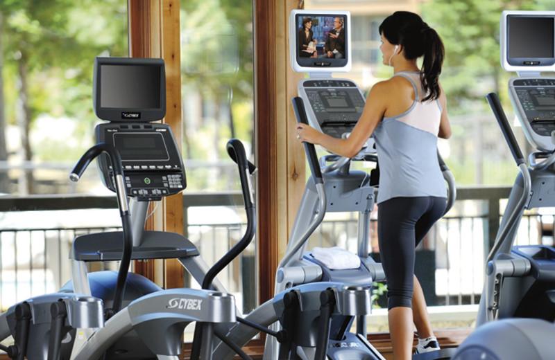 Fitness Room at Ritz-Carlton Lake Tahoe.