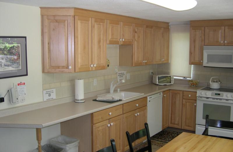 Vacation rental kitchen at Village Condominium.