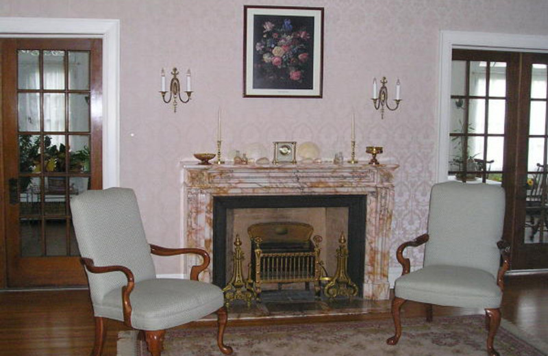 Fireplace at Rileys Bed & Breakfast.