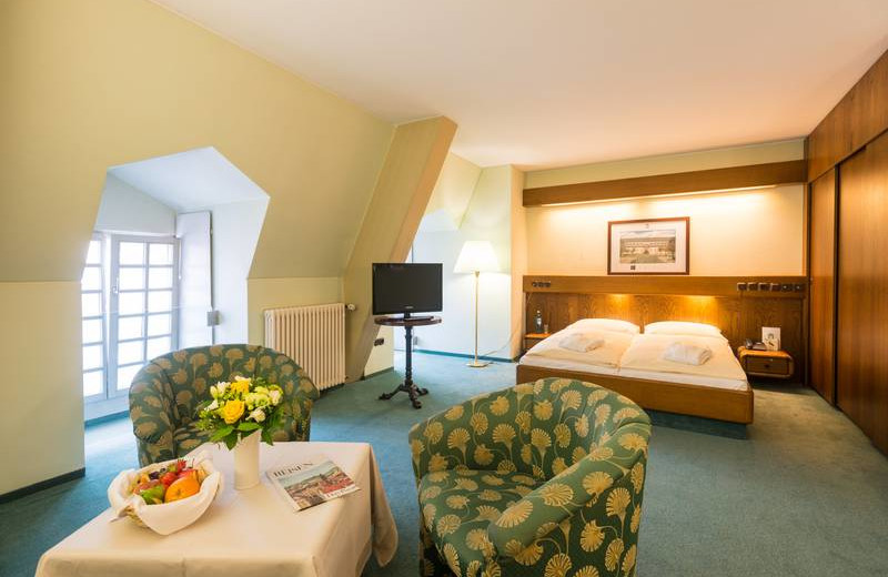 Guest room at Schlosshotel Weilburg.
