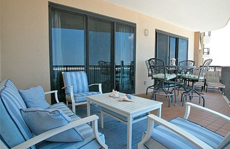 Patio View at Meyer Vacation Rentals