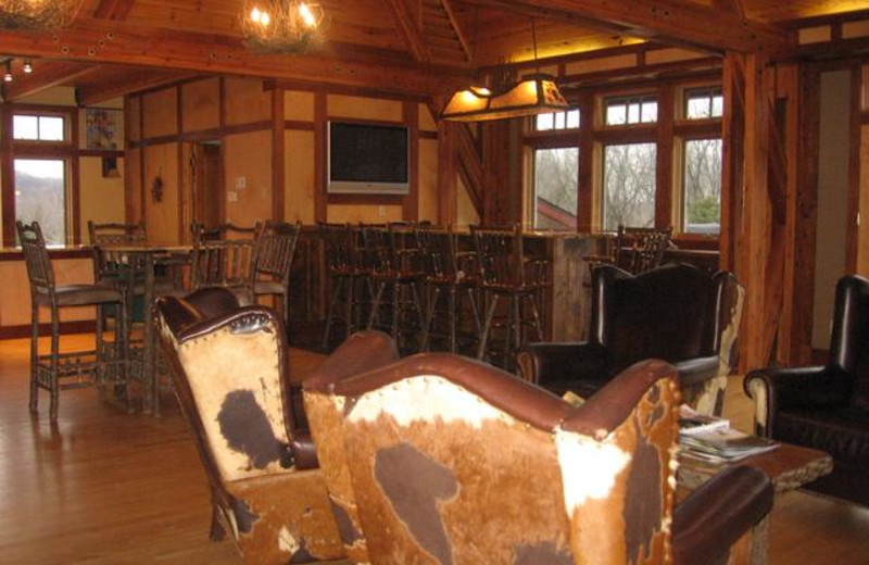 Lodge interior at Cedar Valley Lodge & Hunting.