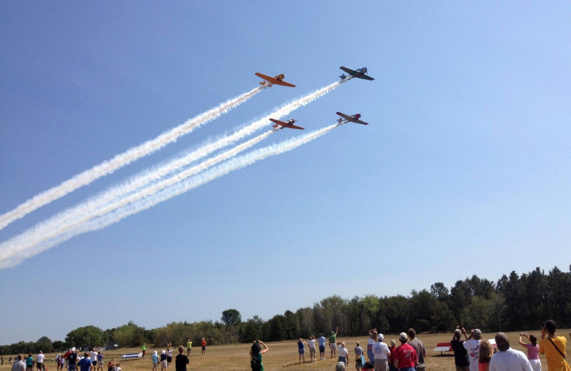 Air show near Battle Lake Inn and Suites.