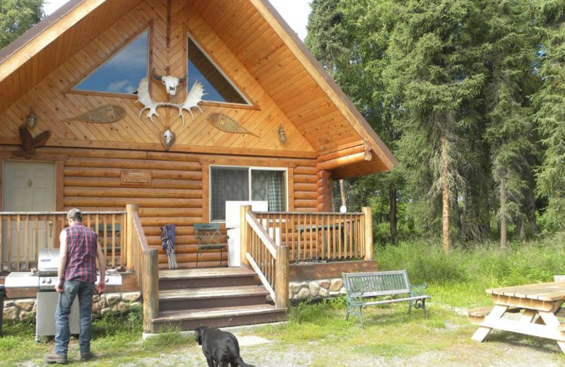 Exterior view of Captain Bligh's Beaver Creek Lodge & Guide Service.