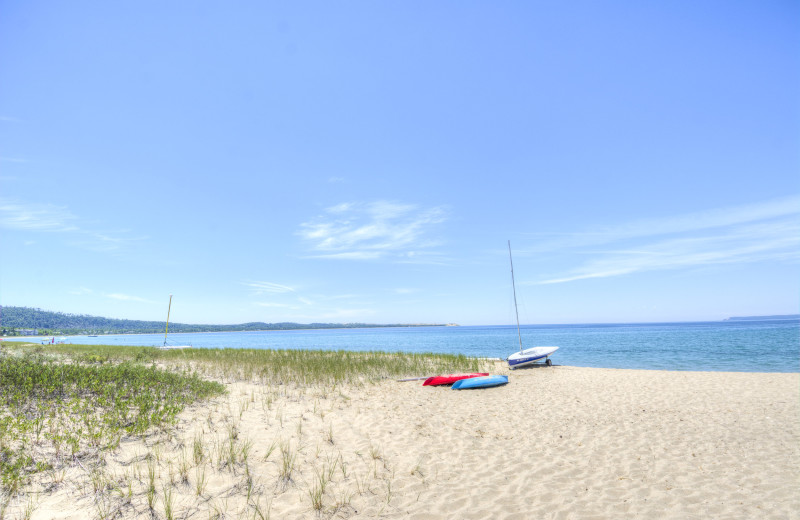 Beach at Fisher's Lakeside Cottages.
