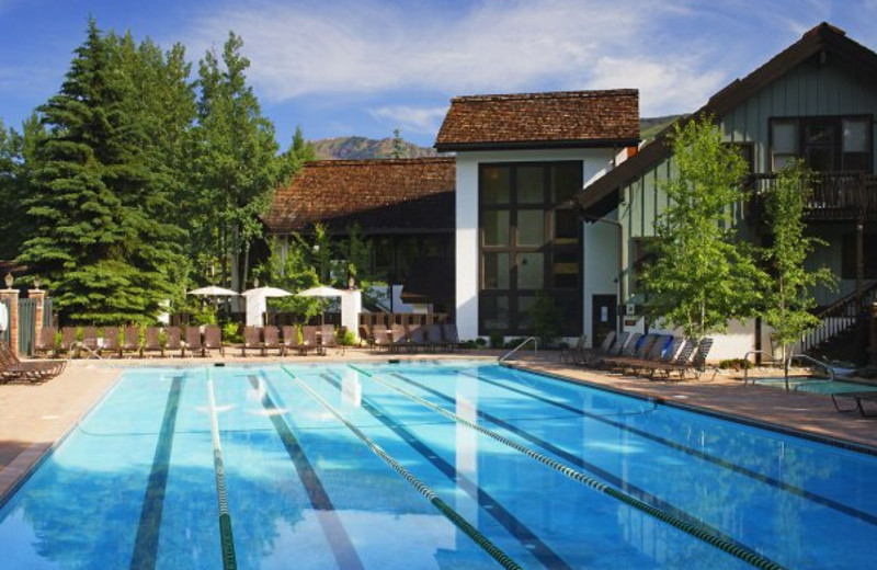 Outdoor pool at Vail Racquet Club.
