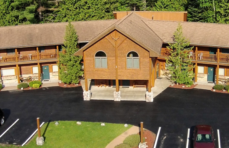 Exterior view of Northwoods Lodge.