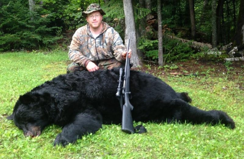 Bear hunting at Rainbow Point Lodge.