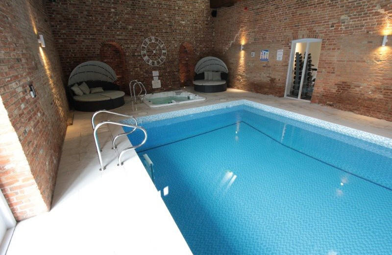 The spa at Seckford Hall Hotel.