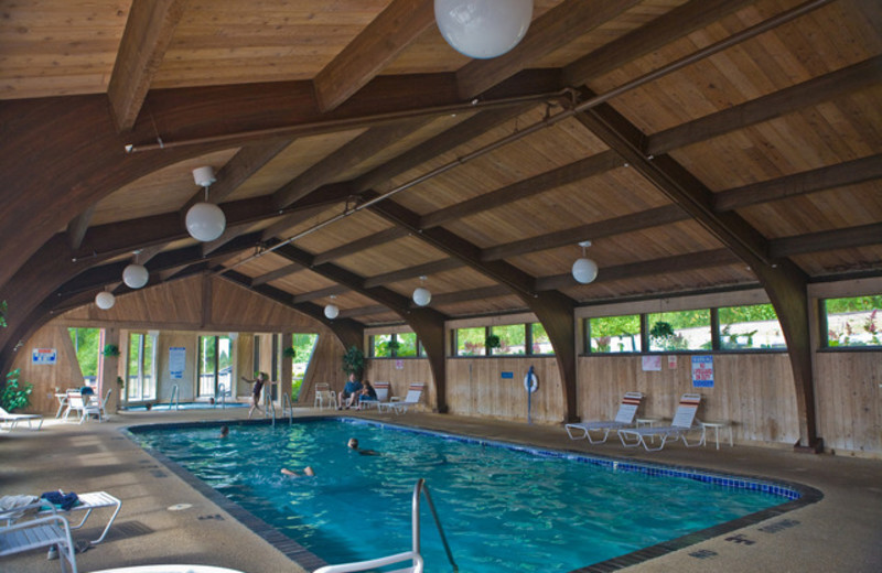 Indoor pool at Lutsen Resort on Lake Superior.