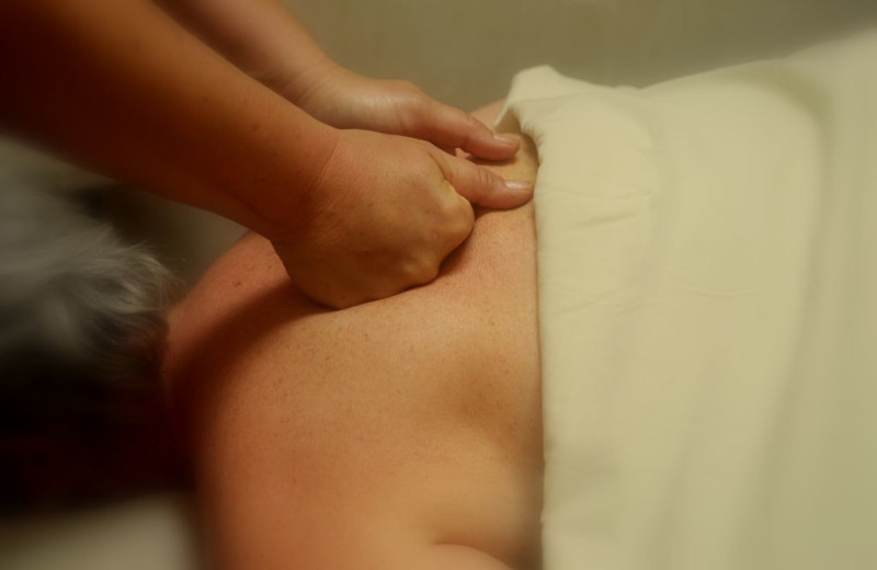 Back massage at Lajitas Resort.