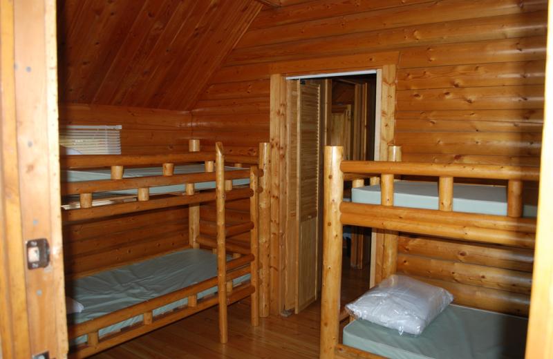 Cabin bunk beds at Colorado Springs KOA.